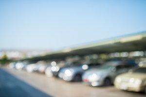 Blur car parking background