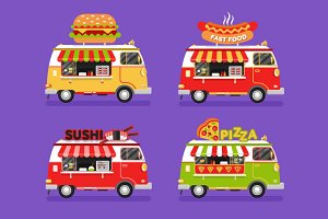 Food Trucks vol.8 Vector