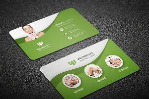 Business card templates creative market beauty spa business card pronofoot35fo Choice Image