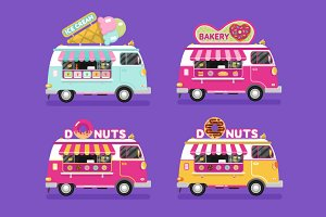 Food Trucks vol.10 Vector