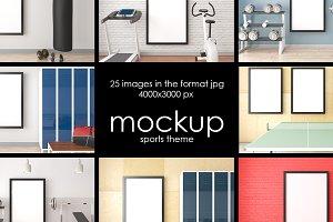 Mockup. Sports theme. 25 JPG files.