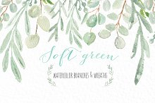 Soft green wreaths & branches