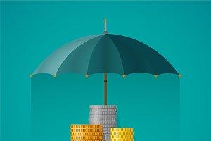 Financial insurance concept