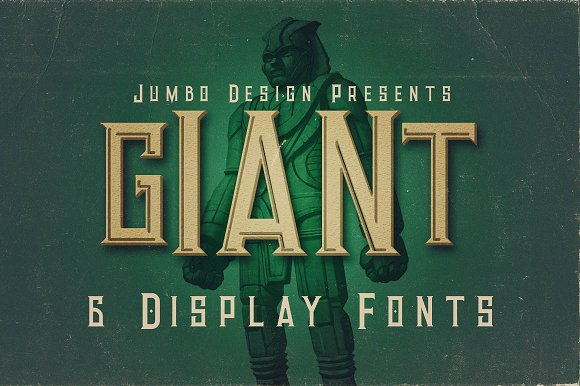 Giant Vintage Style Font