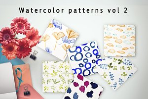 Watercolor patterns Vol.2
