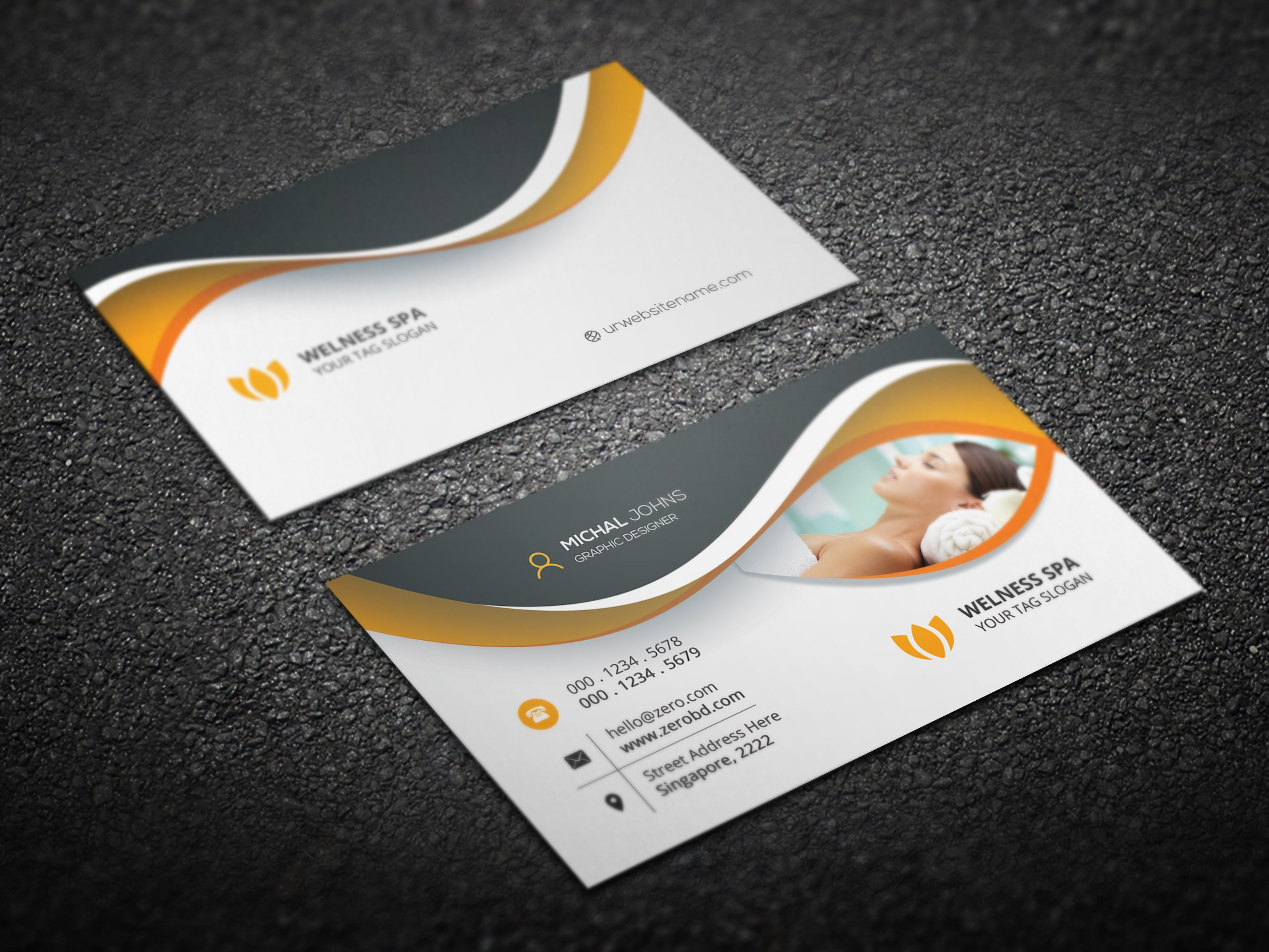 Beauty spa business card business card templates for Spa business card