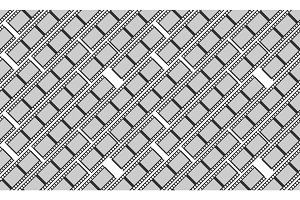 Seamless pattern with monochrome cinema or movie reel on white background