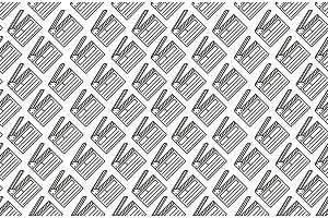 Seamless pattern with open movie clapperboard on white background