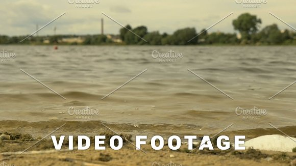 Waves On The City Beach Slowmotion Shot 96 Fps
