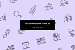The SEO Outline Icons 25