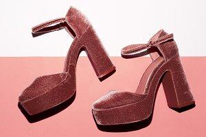 High heel. Top view