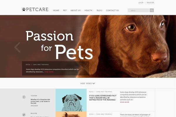 Joomla Themes: JoomlaUX - PetCare - Blog & Magazine Template