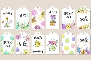 Spring sale tags collection