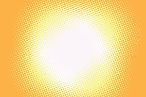 Yellow background light retro comic