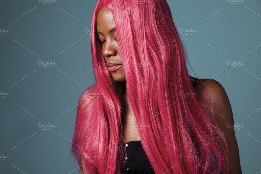Creative Hair Color Concept People Photos Creative Market - Creative hairstyle color
