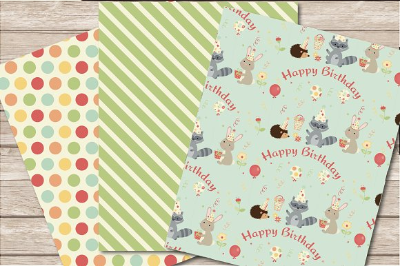 Woodland Birthday Bundle in Illustrations - product preview 4