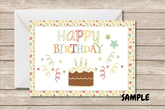 Woodland Birthday Bundle in Illustrations - product preview 5