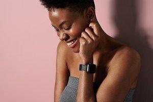 black woman with a short hair cut