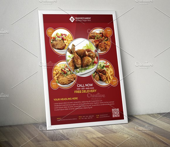 Restaurant Food Flyer Template