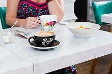 Cafe Coffee Cup PSD Mockup #4