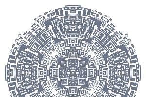 Circular decorative geometric