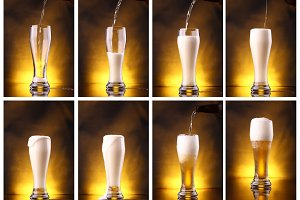 Light Beer Pouring