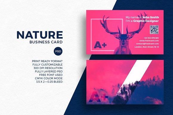 Creative Nature Business Card