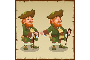 Adult red-haired man leprechaun