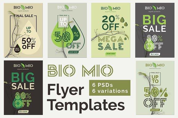 Bio Mio Promotional Flyer Templates