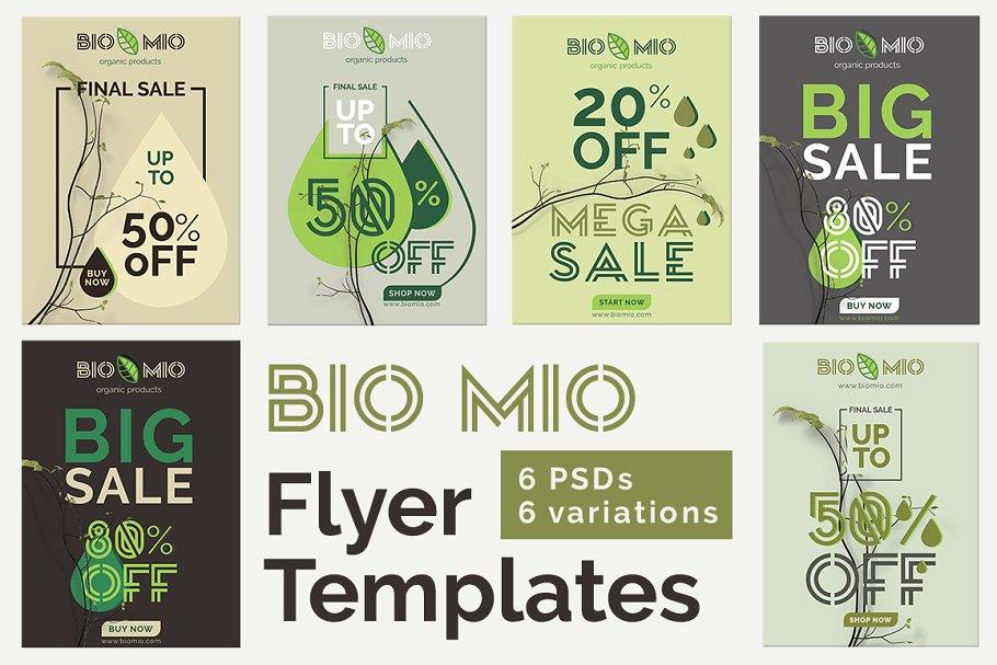 Bio Mio Promotional Flyer Templates Flyer Templates Creative Market