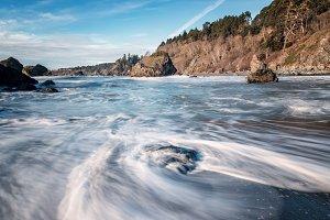 Beautiful Beach with Ocean Waves