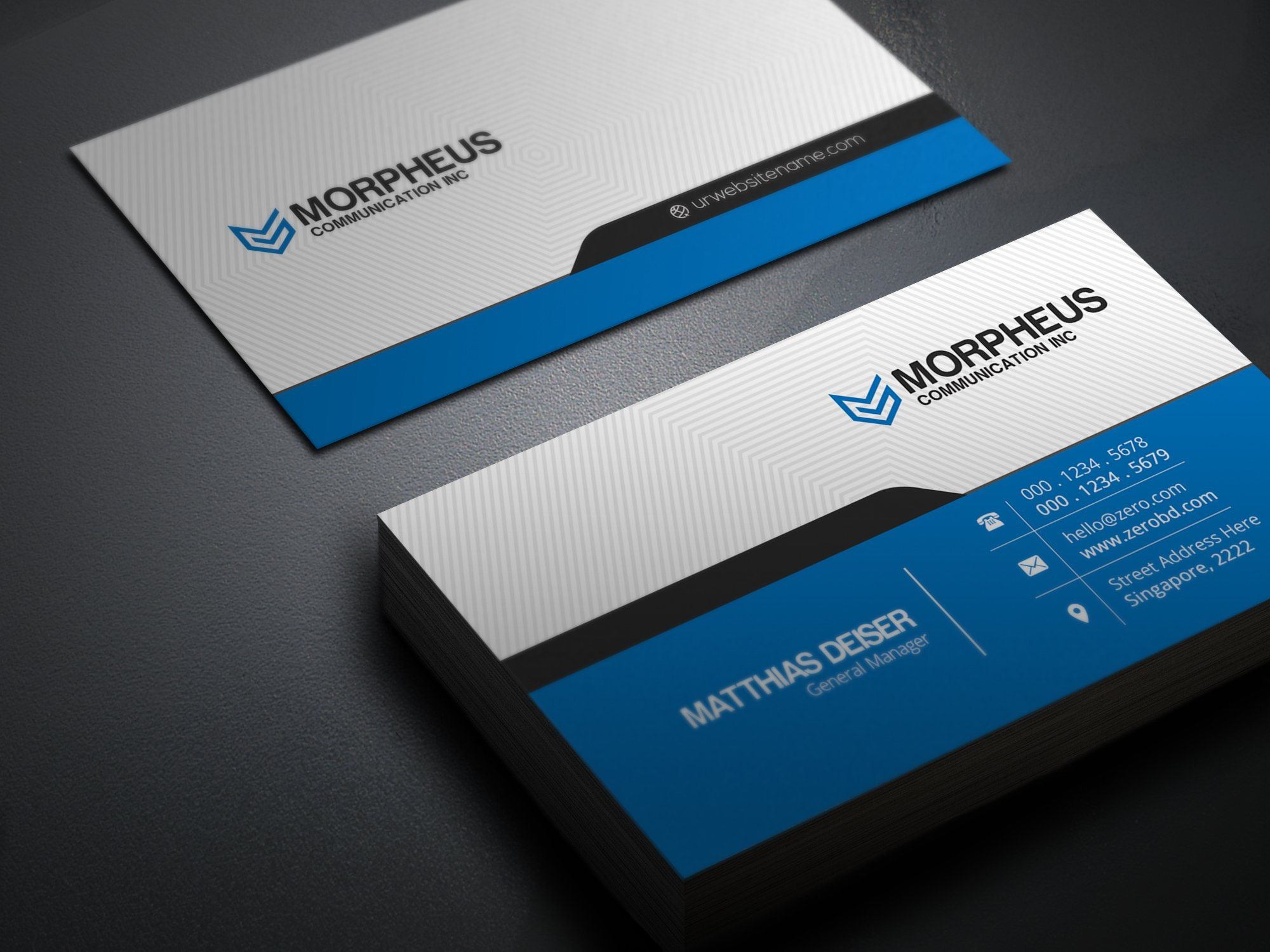 Morpheus business card business card templates for Busniess card template