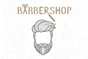 Barbershop logo elements