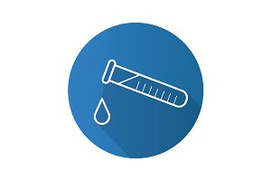 Chemical experiment icon. Vector