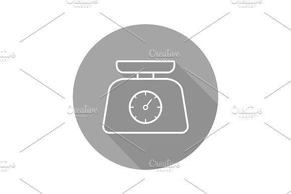 Kitchen Food Scales Icon Vector