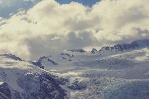 On a glacier