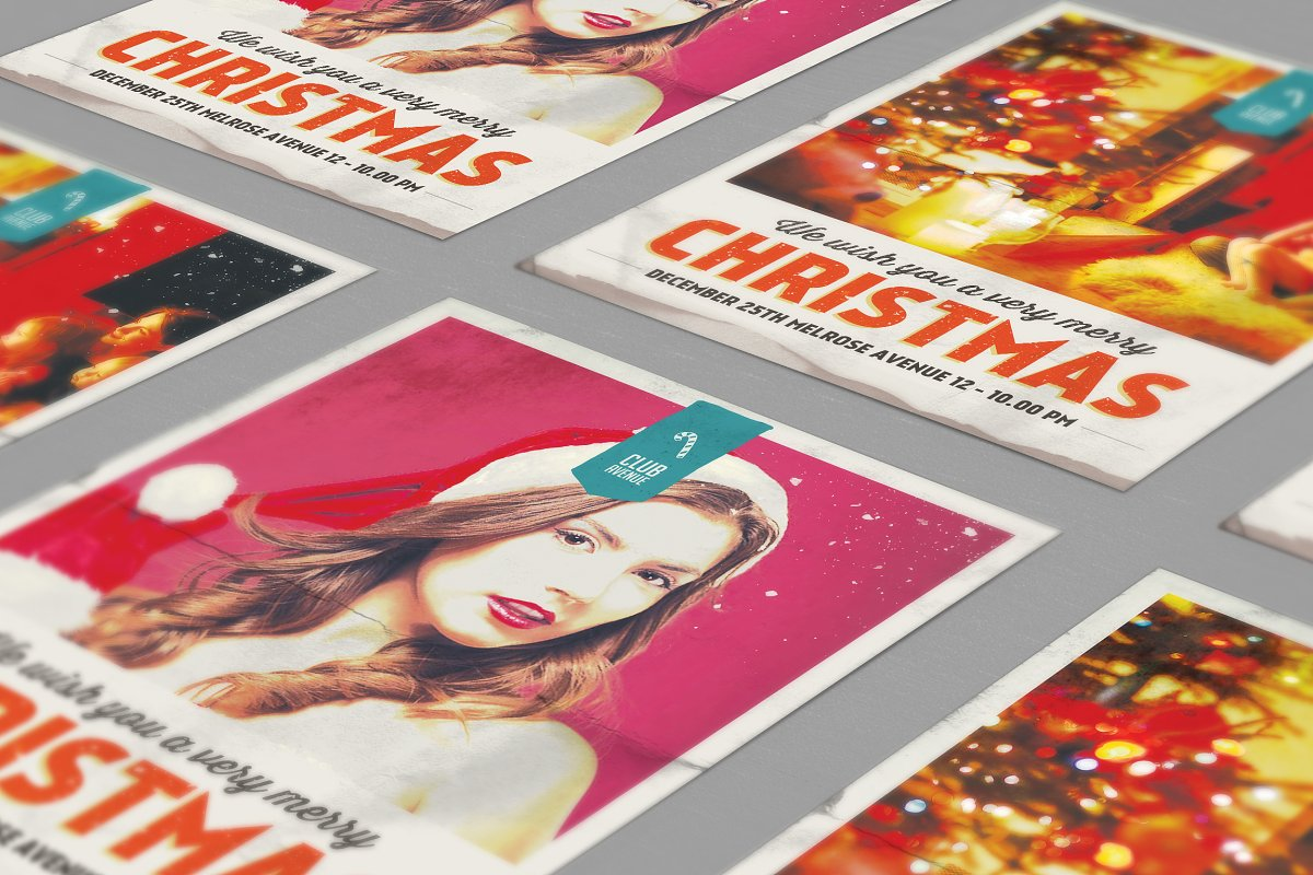 Christmas Flyer, Poster Vintage in Flyer Templates - product preview 8