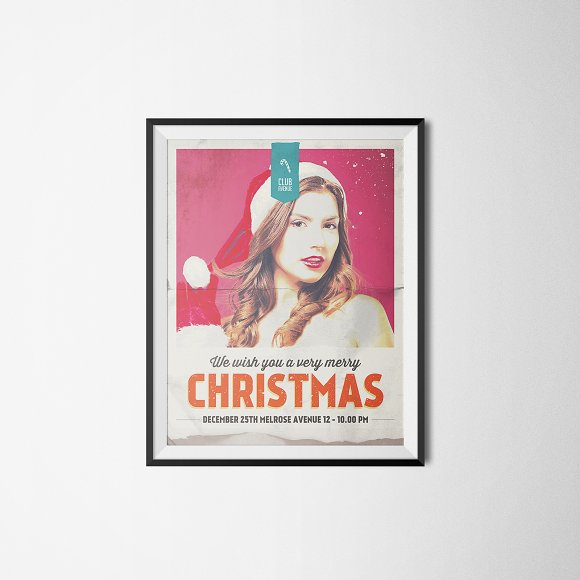 Christmas Flyer, Poster Vintage in Flyer Templates - product preview 1