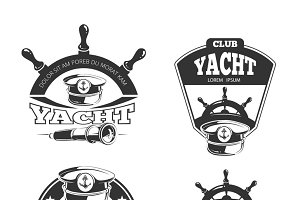 Nautical vector labels and badges