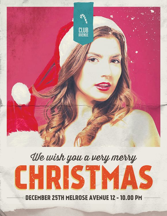 Christmas Flyer, Poster Vintage in Flyer Templates - product preview 2