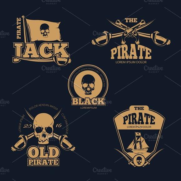 Retro Piratical Color Badges