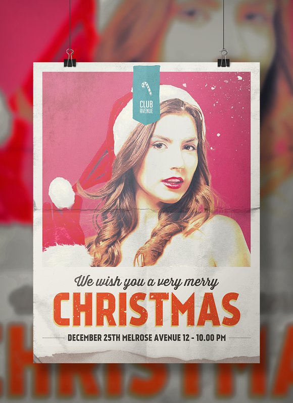 Christmas Flyer, Poster Vintage in Flyer Templates - product preview 3