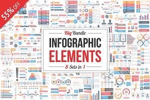 Infographic Elements Bundle 8 in 1