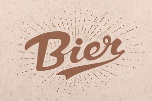 Hand drawn lettering Beer