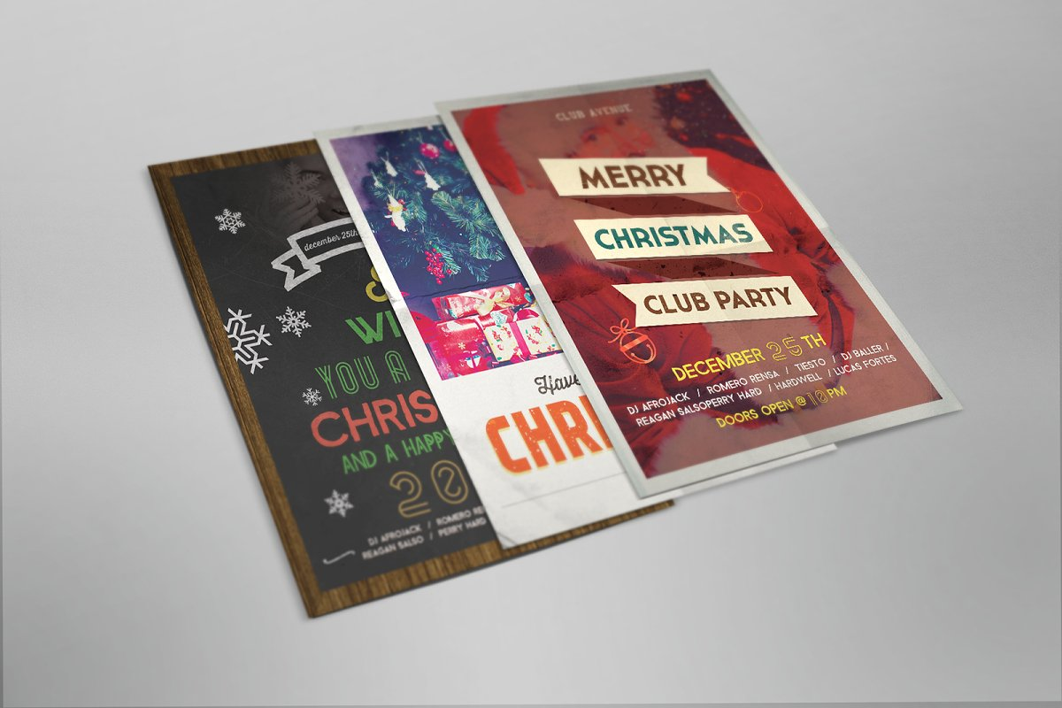 Christmas Vintage Flyer, Posters in Flyer Templates - product preview 8