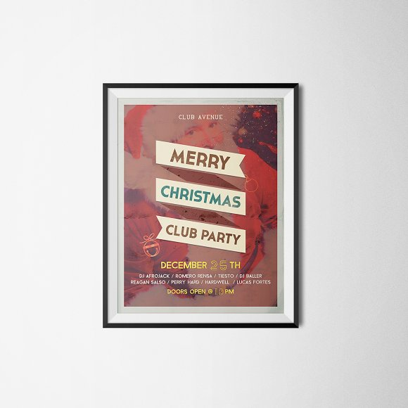 Christmas Vintage Flyer, Posters in Flyer Templates - product preview 1