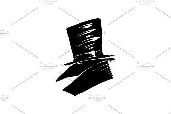 Mr Black Raven In A Hat