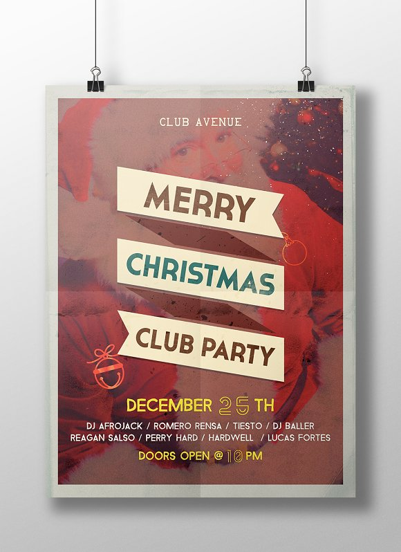 Christmas Vintage Flyer, Posters in Flyer Templates - product preview 3