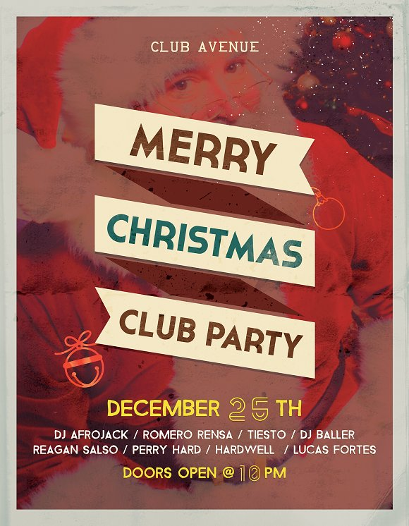 Christmas Vintage Flyer, Posters in Flyer Templates - product preview 4