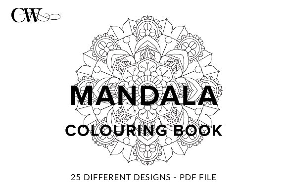 Mandala Colouring Book Graphics Creative Market